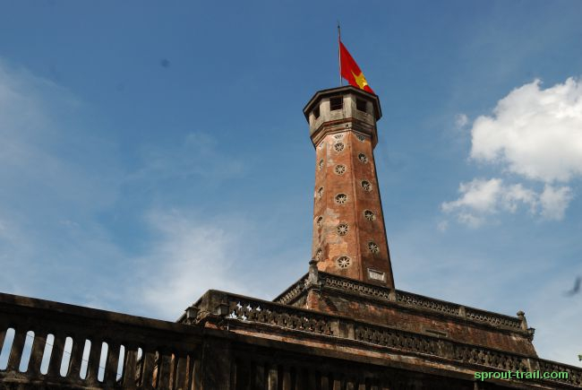 Cot Co Tower - The Flag Tower of Hanoi - is one of the symbols of the city and part of the Hanoi Citadel