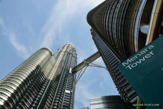 Underneath the Petronas Towers
