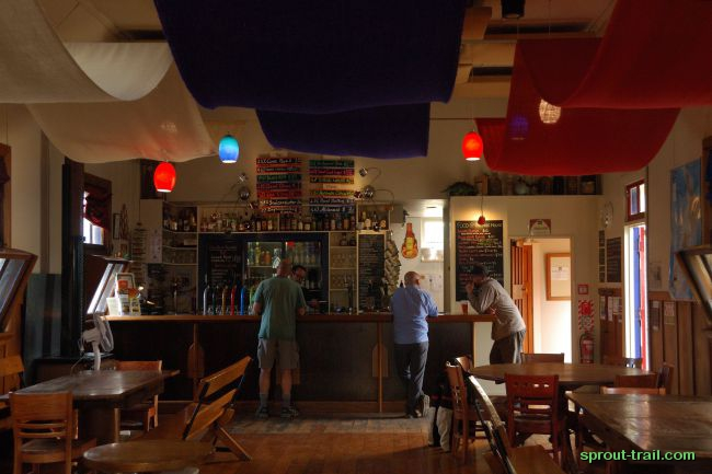 Inside the Free House - previously a church, now a haven for local craft ales. Their goal: