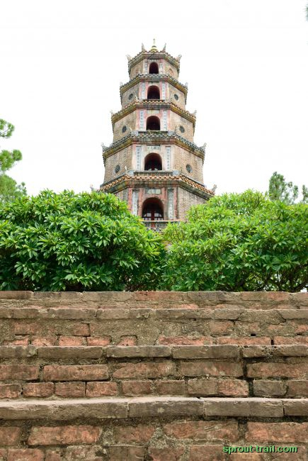 Steps to the Thien Mu Pagoda